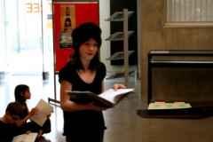 Lecture à la bibliothèque Lucien Rose