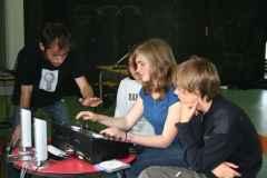 Préparation des DJ's pour la boum